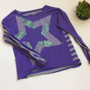 Justice Sequin Star Top size 18